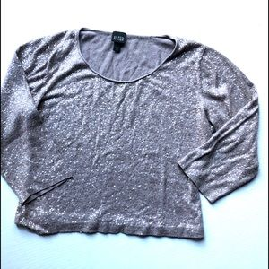 Eileen Fisher• Sequined Knit Top